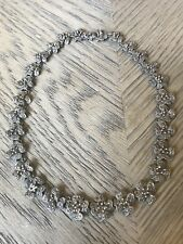 Antique Vintage Marcasite And Sterling Collar Choker Necklace Heavy Hallmarked