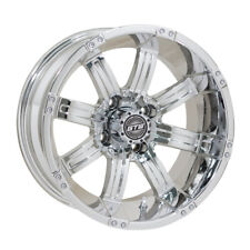 (1) Golf Cart Gtw Tempest 10 inch Chrome Wheel With 3:4 Offset