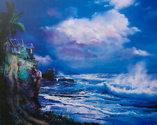 HAWAII TROPICAL OCEAN TIDE Limited Edition Art Giclee on Canvas by ROY TABORA