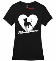 Pitbull Mama Ladies T Shirt Pitt Bully Dog Lover Tee Bully Pride Gift Tee Z4