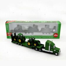 1:87 Farmer Low Loader Truck With 2 Tractors Models Diecast Toy Vehicles Toys To
