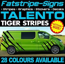 FIAT TALENTO TIGER STRIPES GRAPHICS STICKERS DECALS DAY VAN CAMPER SWB LWB L1 L2