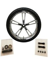 "Reinforcer 21"" Chrome Front Wheel + Mounted Tire for Harley Street Glide Touring"