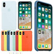Funda para Apple iPhone XR XS 8 7 6S+6 Plus Original carcasas Silicona Genuina