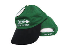 Key West Florida Conch Republic Bone Fish Green Black Baseball Hat Cap