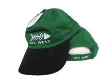 Key West Florida Conch Republic Bone Fish Green Black Baseball Hat Cap