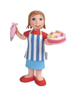 Lady Cake Maker x 4 - Birthday Cake Dec - WHOLESALE JOBLOT - SALE - BARGAIN