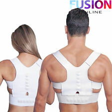 MAGNETIC THERAPY POSTURE CORRECTOR BAD BACK SUPPORT LUMBAR BELT SHOULDER BRACE