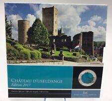 Luxembourg 5 euros 2017 Castle Useldange Niobium Silver Luxemburgo Chateau €