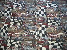 """Nascar Racing Race Car Truck Upholstery Tapestry Fabric 130"""" x 56"""" 3+yards"""
