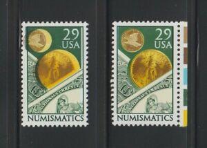 US EFO, ERROR Stamps: #2558 Numismatics Money. Scarce color shift. MNH