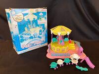 Vintage G1 Hasbro My Little Petite Ponies Prancing Pony Pretty Carousel - Works!