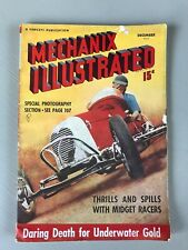 VTG Mechanix Illustrated Magazine Midget Race Car Gold Diving Mining Dec 1938