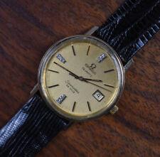 Vintage OMEGA SEAMASTER DeVille Quartz Gold Filled Diamond Dial Men's Watch