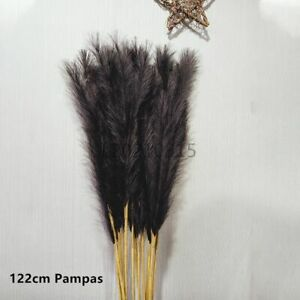 Artificial Pampas Grass Bouquet DIY Vase Holiday Wedding Party Home Decoration