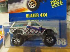 Hot Wheels Blazer 4x4 #258 All Blue card