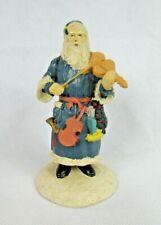 Primitive Folk Art Santa with Violin and Sack no maker mark