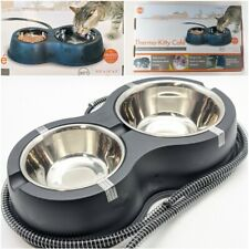 """K&H Pet Thermo-Kitty Café - Black 14"""" x 8.5"""" x 3"""" - Plug In Outdoor Heated Bowls"""
