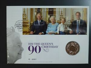 GB - 2016 90th BIRTHDAY £5 UNCIRCULATED PNC ROYAL MINT COIN COVER(REF.CO1)