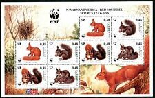 SLOVENIA 2007 WWF Red Squirrel Animals Fauna minisheet of 2 sets MNH