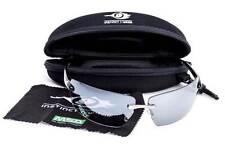 MSA PREMIUM Glasses / Specs Blue/Silver Mirror Lens & Gloss Black Framed RRP$90