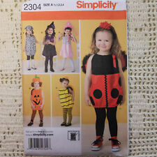 Simplicity 2304 Toddler Costume 6 looks Bug Witch 1/2-4