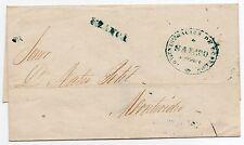 1858 URUGUAY PREPHILATELIC COVER SALTO FRANCA TO  MONTEVIDEO W/CERTIFICATE