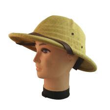Men Women Outdoor Hard Straw Hiking Helmet Sun Hat Safari Explorer Pith Cap