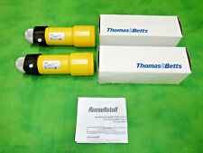 Tthomas Amp Betts Russellstoll 9c54u2c75 Connector 50a 250v Lot Of 2 9