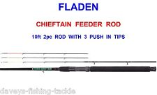 2017 FLADEN 10ft CHIEFTAIN 3 TIP FEEDER ROD COARSE MATCH FLOAT LEDGER FISHING
