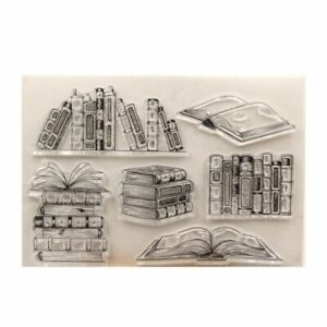 1pc Books Transparent Stamp Clear Seal Stamps Scrapbook Card Making Decoration S