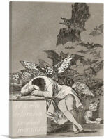The Sleep of Reason Produces Monsters 1799 Canvas Art Print by Francisco De Goya