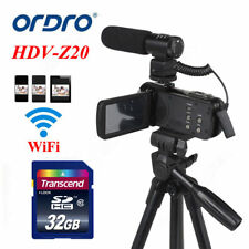 24MP 1080P Video 16X Digital Camera Camcorder +Microphone+Tripod+32G Card Travel