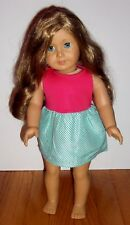 AMERICAN GIRL JUST LIKE YOU * TRULY ME* DOLL CARAMEL HAIR BLUE EYES FRECKLES