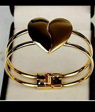 gold heart bangle wedding prom bridesmaid birthday girlfriend mum sister