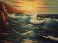 LMOP1259 sea wave seascape view 100% handmade-painted oil painting art on canvas