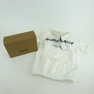 Burberry Children White Short Sleeve Pullover Button Top Size 8Y NEW NWT