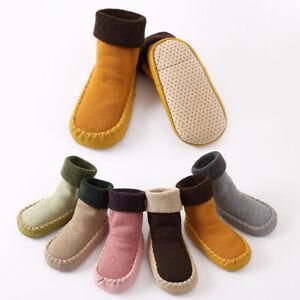 Newborn Baby Cute Cartoon Anti Slip Shoes Kids Toddler Slipper Boots Floor Socks