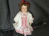 Porcelain Doll about 14 inches