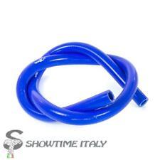 Manicotto Radiatore Moto Tubo Blu in SILICONE Racing 100cm x 12mm telato