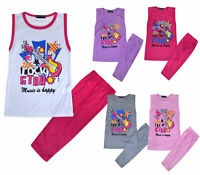 Girls Summer Set 2 Piece T-shirt Top and Leggings Set Kids New Age 2 - 10 Years