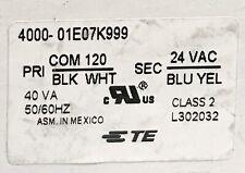 Te Connectivity 4000 01E07K999 Control Transformer Primary 120 Vac Secondary 24V