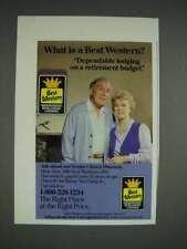 1986 Best Western Hotel Ad - Retirement Budget