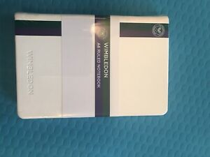 Official Wimbledon Tennis Notebook A6 Brand New Shrink Wrapped