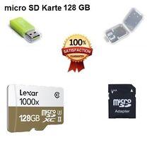 Nuevas mercancías lexar 128 GB Micro SD tarjeta 1000x clase 10 incl. todos los adaptadores