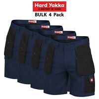 Mens Hard Yakka Legends Xtreme Ex Shorts 4PK Cargo Work Ultimate Tradie Y05083