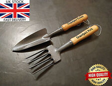 Personalised Unusual Gift Engraved Garden Hand Tools Trowel Fork Grandad Nanny