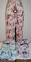 Flower Pants Coconut buckle cotton Beach Ladies resort wear Summer Maternity
