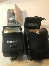 Canon Speedlite 188A Flash Attachment Camera + Case & Manual