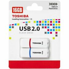 Toshiba 16GB USB 2.0 Flash Drive PA02 White/Red/Blue Twin Pack 2 Memory Stick